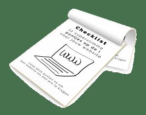 checklist 12 x puntjes op de i cover