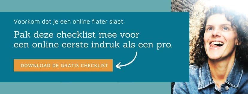 Voorkom dat je een online flater slaat. Pak deze checklist mee voor een online eerste indruk als een pro.